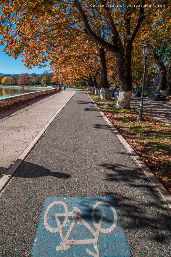 Photo in Travel #ioannina #bicycle #trees #lake