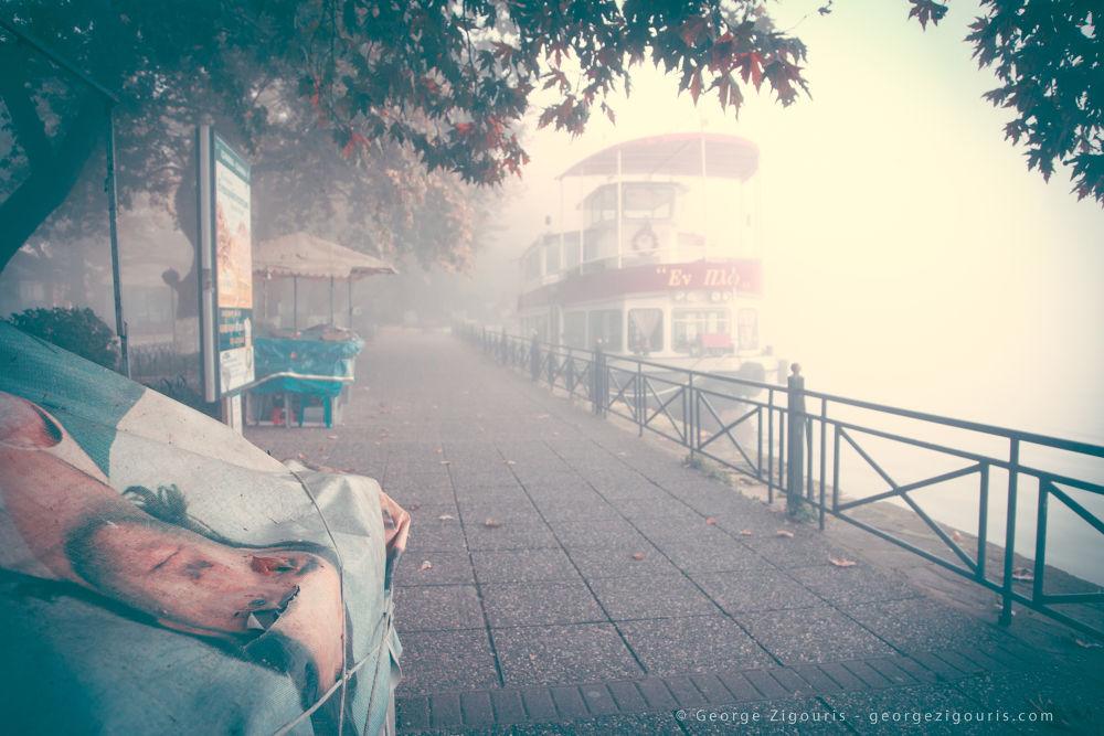 Photo in Random #portrait #lake #ship #trees #ioannina