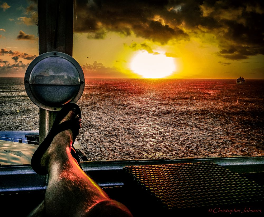 Photo in Sea and Sand #sunset #cruise #caribbean