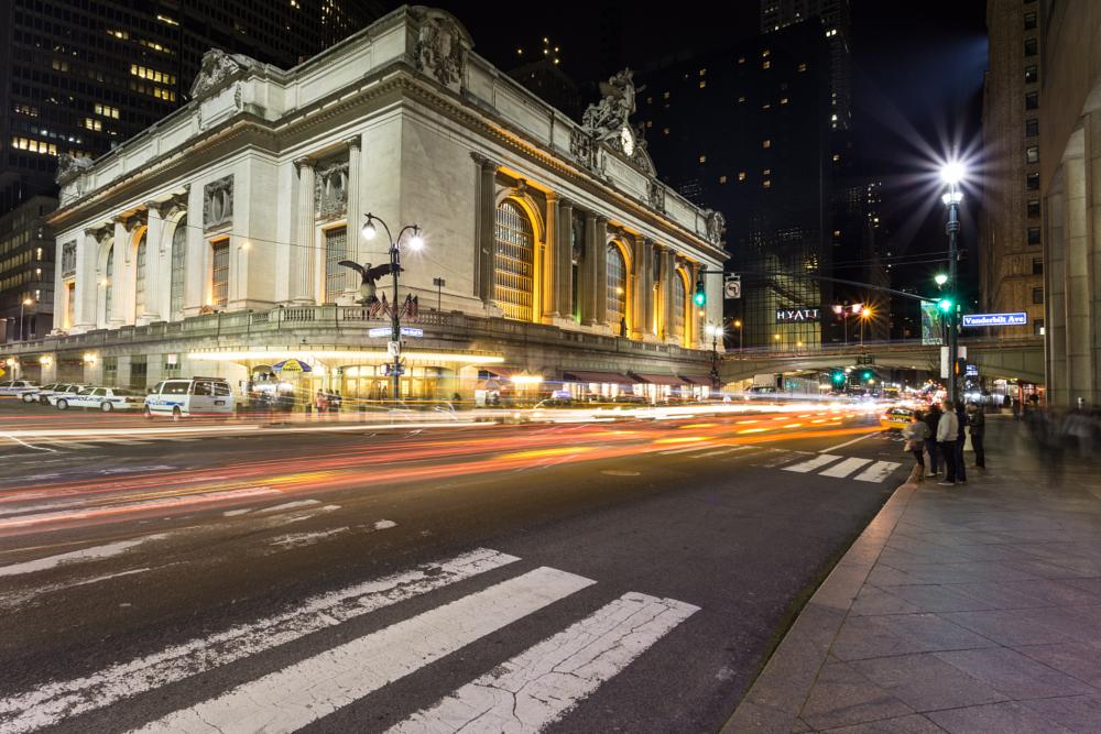 Photo in Architecture #new york #nyc #grand central #light trail #long exposure