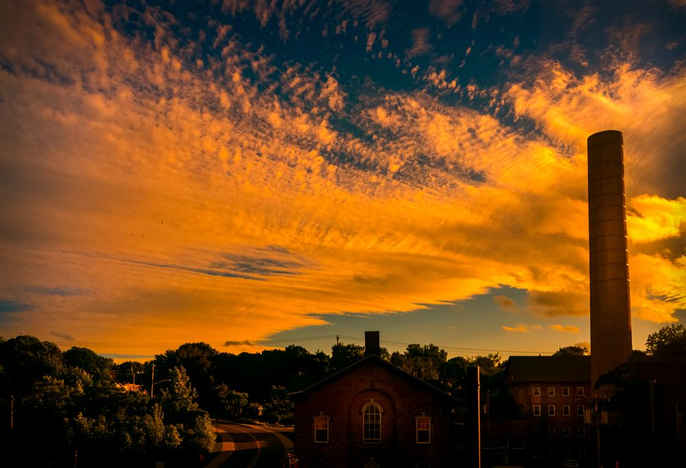 Photo in Landscape #outdoor #sunset #cloud #sky #mill #color