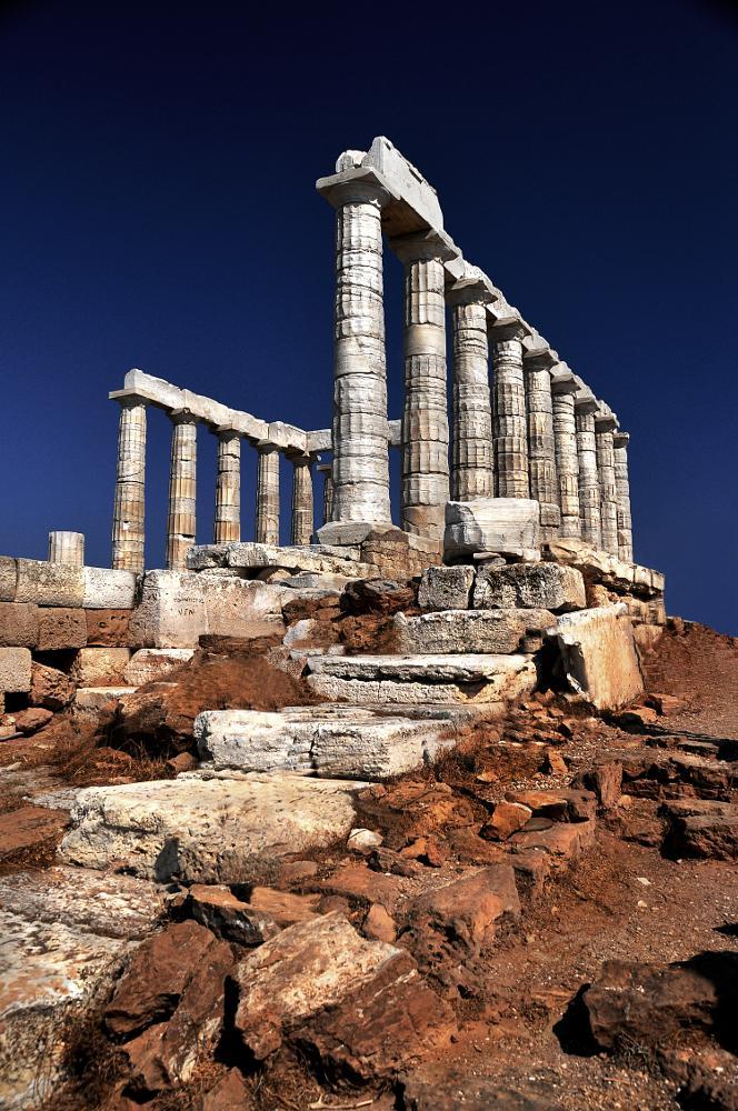 Photo in Architecture #cape sounion #poseidon #temple #doric