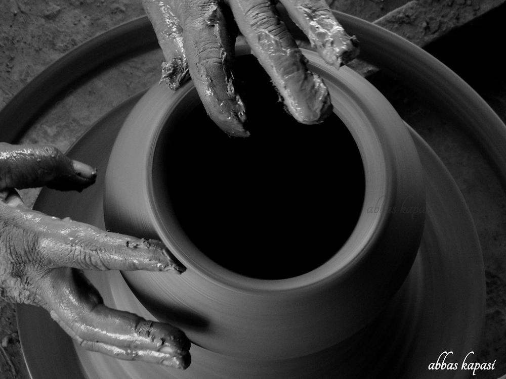 Photo in Black and White #pottery #bw #composition