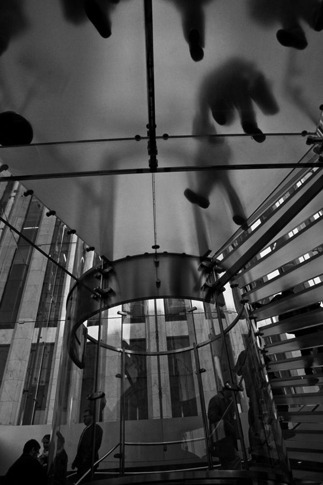 Photo in Abstract #glass steps #bw #streets