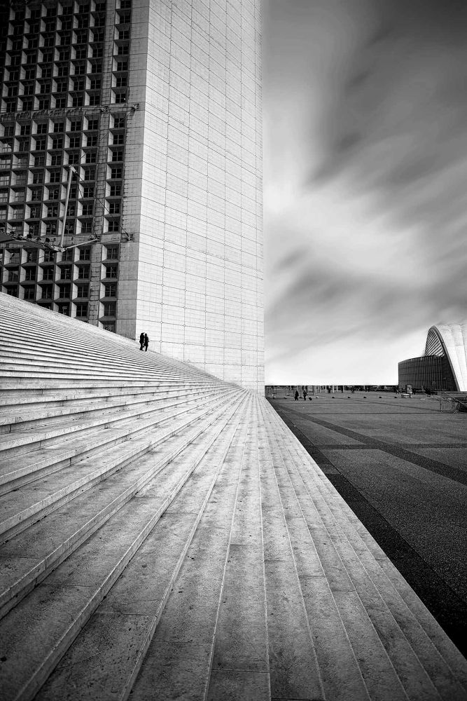 Photo in Landscape #ypa2013 #architect #perpective #stairs #tiny #people #mouvement #b/w