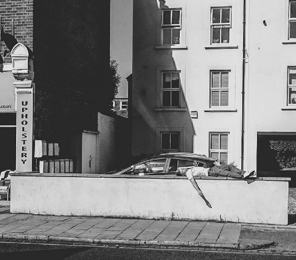 Photo in Street Photography #lines #sun #city #man #photography