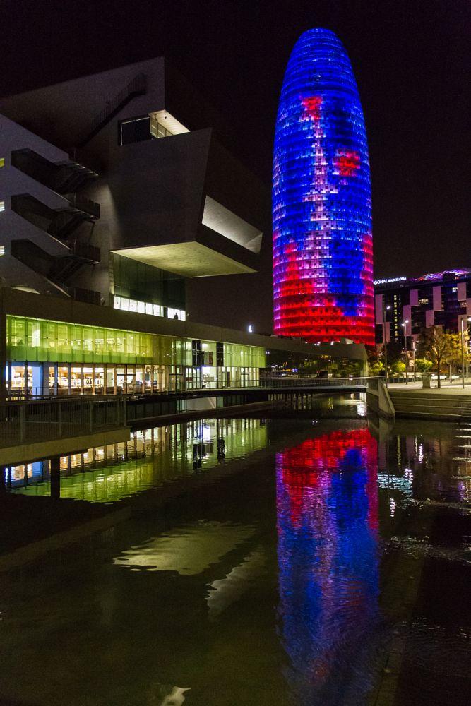 Photo in Random #barcelona #catalunya #spain #agbar tower #places #night photography