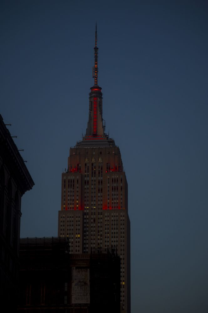 Photo in Street Photography #empire state building #dusk #nyc
