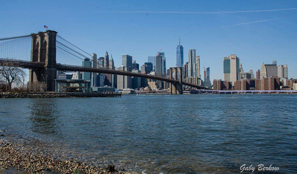 Vista de puente de Brookling frente a NY ❤️