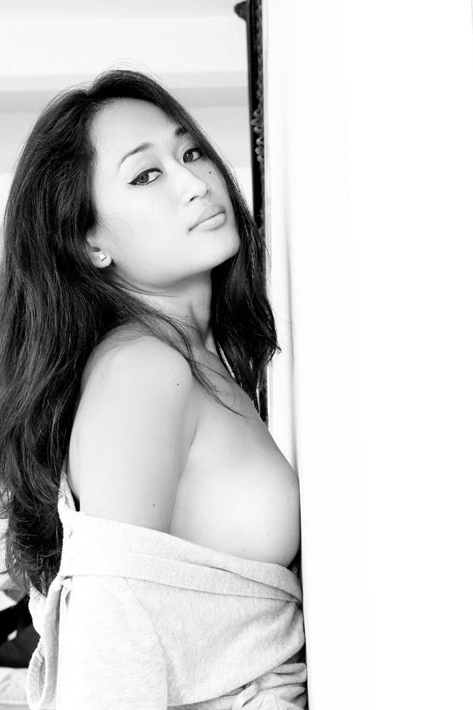 Photo in Black and White #asian #black #white #mole #beauty #beautiful #mark #eyes #lips #emotion #breast #nipple #sexy #james #felix #revolucion #foto