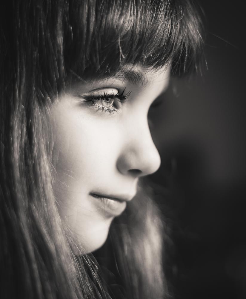 Photo in Portrait #portrait #girl #bw #eye