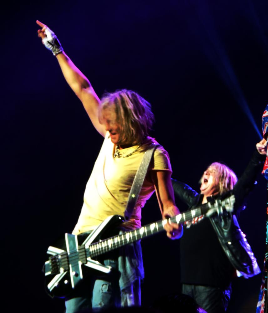 Photo in Concert #def leppard #rick savage #joe elliot #music #rock #performance