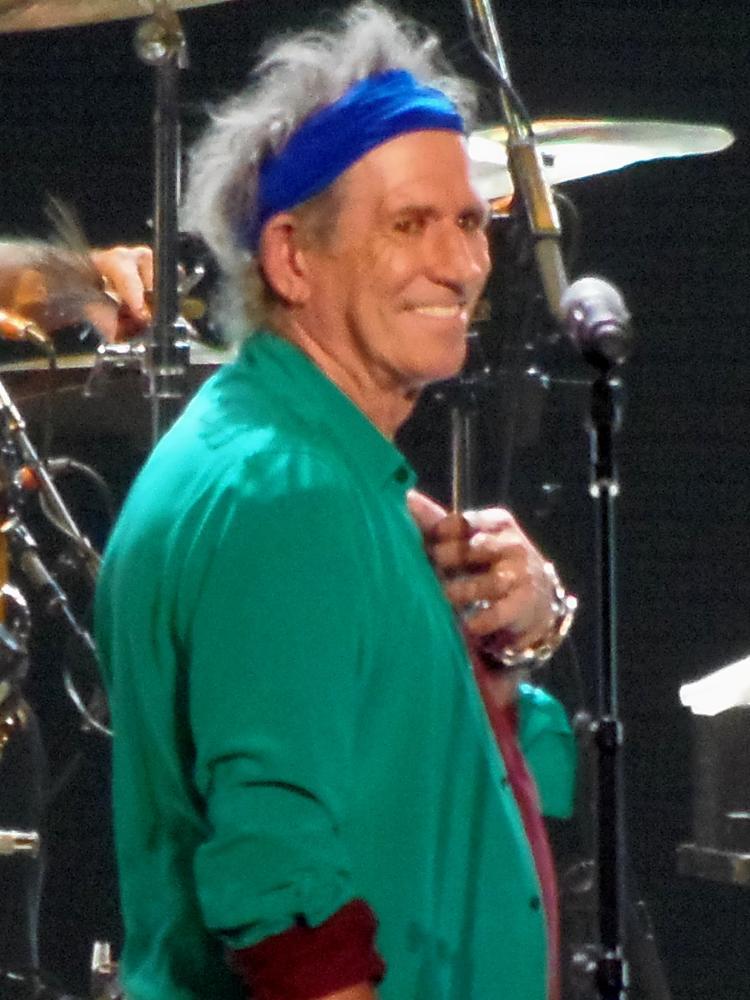 Photo in Concert #rolling stones #richards #singer #rock #guitarist