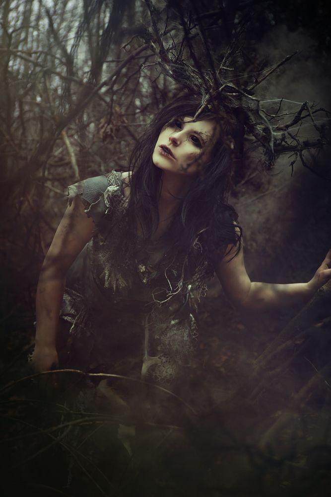 Photo in Fine Art #beauty #morbid #fairy #wood #macabre #fantasy #model #portrait