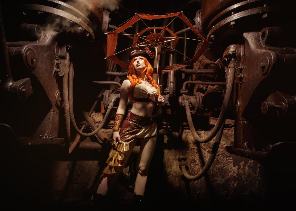 Photo in Fine Art #woman #girl #steampunk #retro #gothic #latex #fetishfashion #beauty #sexy #fantasy