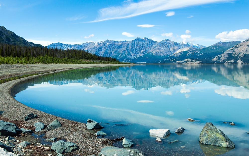 Photo in Landscape #reflection #lake #usa #landscape