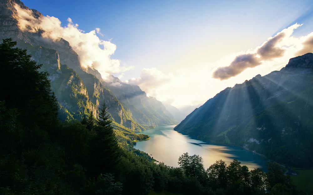Photo in Landscape #alps #landscapes #land #lake