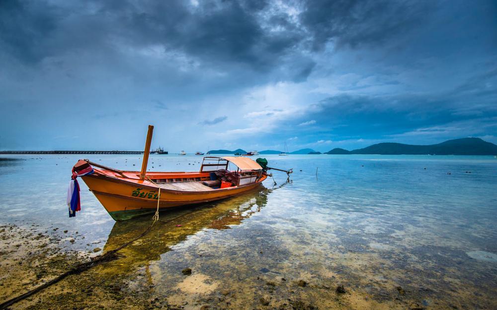 Photo in Landscape #ocean #boat #landscape #sea #beach