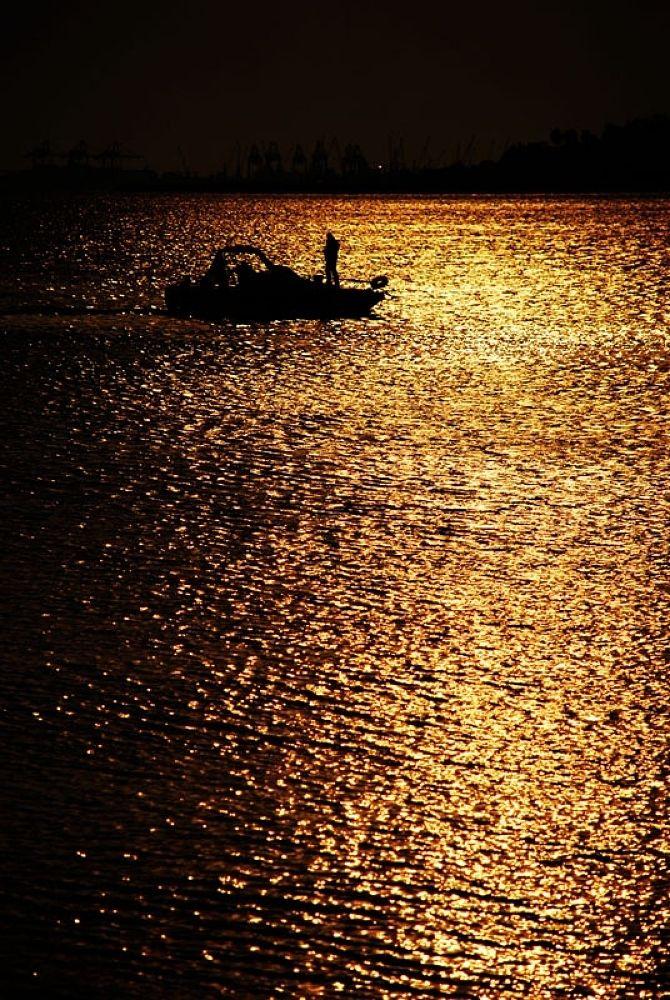 Photo in Fine Art #light path #sunset #people #sea #landscape #abstract #oc0404 #onur #güner #güray