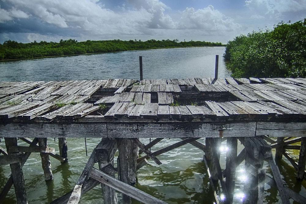 Photo in Random #reserva de la biosfera #turismo #sian ka'an #quintana roo #mar #méxico #puente #naturaleza