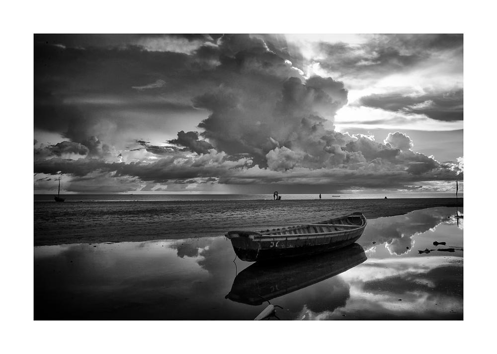 Photo in Fine Art #praia #lazer #barco #mar #nuvens #férias #natureza #jericoacoara #ceará #brasil