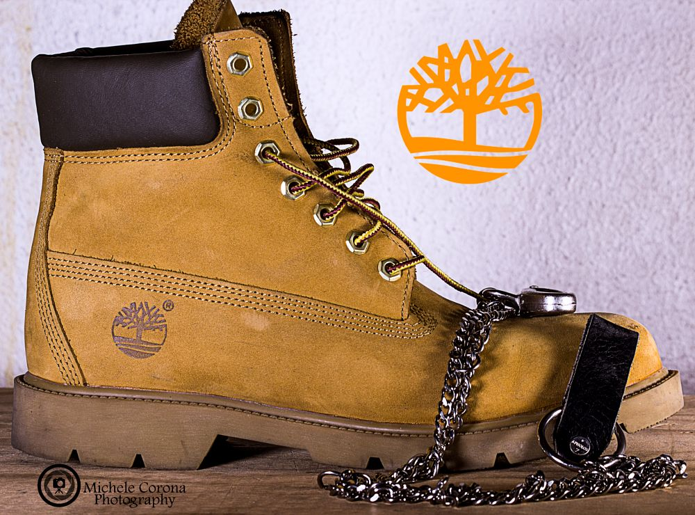 Photo in Product #timberland #wood #iron #metal #boot #white #product #productshot