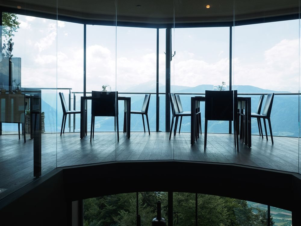 Photo in Interior #restaurant #miramontiboutiquehotel #dining #interior #transparency #gourmet #mountains