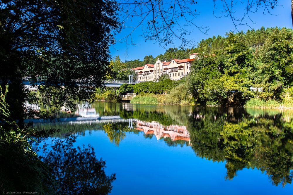 Photo in Landscape #portugal #vouga #s. pedro do sul #mirror #reflection #reflections #river #landscape #waterscape #peace