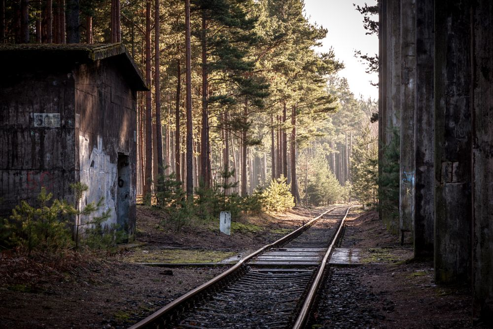Photo in Landscape #krzystkowice #poland #polska #factory #forest #wwii #chemical industry