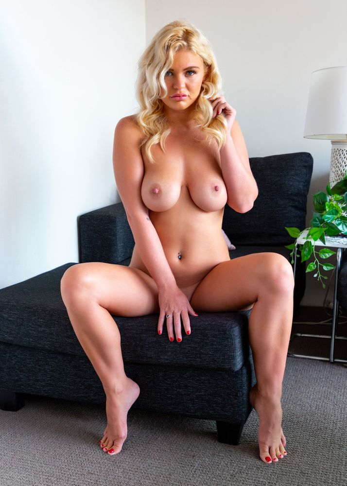 Photo in Nude #sexy #seductive #sensual #blonde #girl #nude #naked #barefoot #chair #sitting #indoors #sultry #beautiful