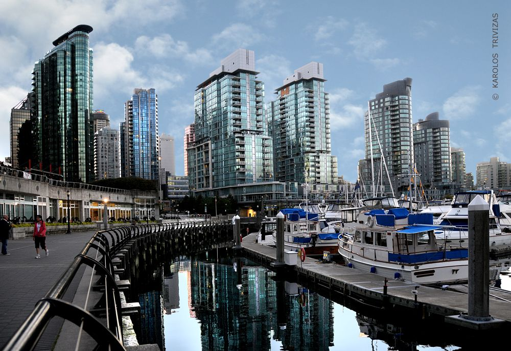 Photo in Cityscape #vancouver harbor port skysc
