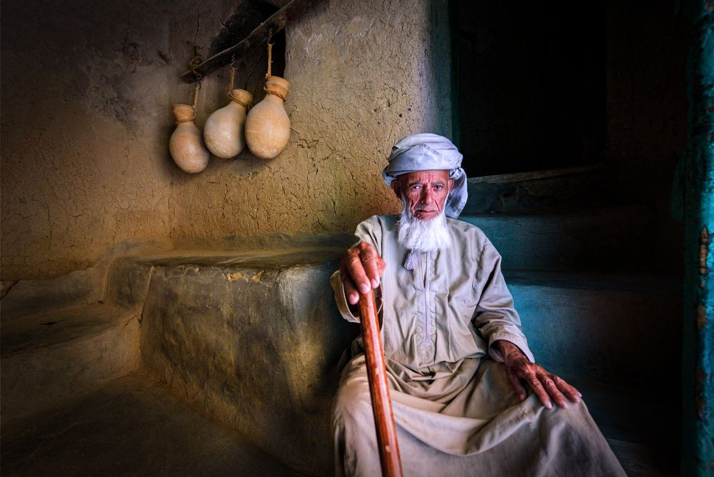 Photo in People #portrait #oman #old man #nikon #nikon d750