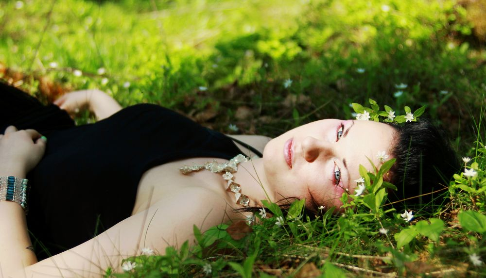 Photo in Random #woman #fairy #flower