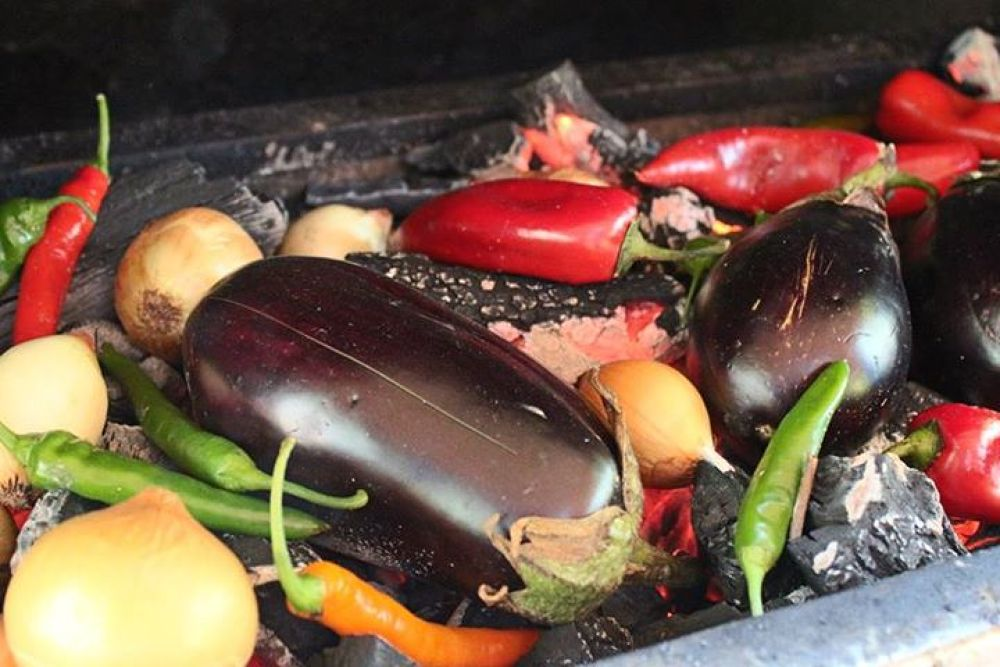 Photo in Food #food #barbecue #macro #eat #eggplant #onions #peppers #tomatoes #canon #nikon #sony #samsun #nature