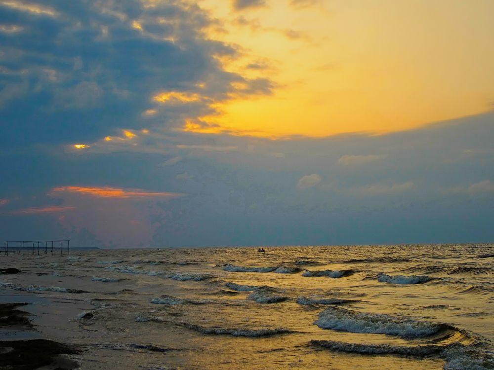 Photo in Landscape #sea #wave #clouds