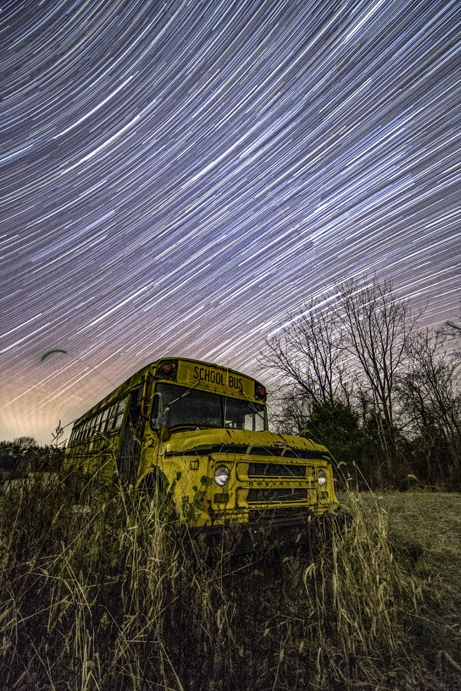 Photo in Landscape #star trails #long exposure #kentucky #nightscape #starscape