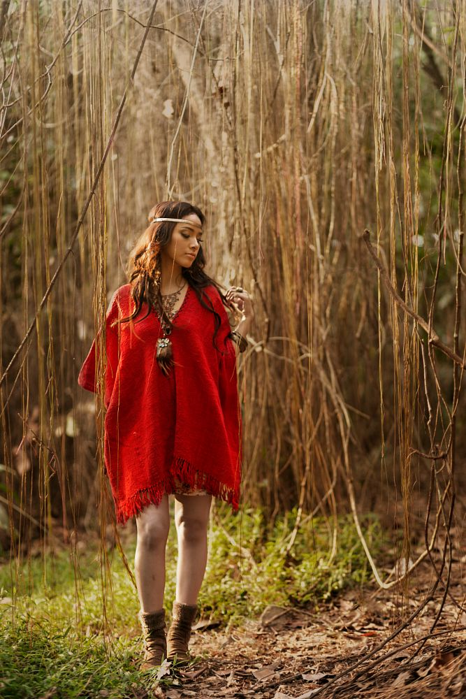 Photo in Fashion #red #girl #forest #bohemian