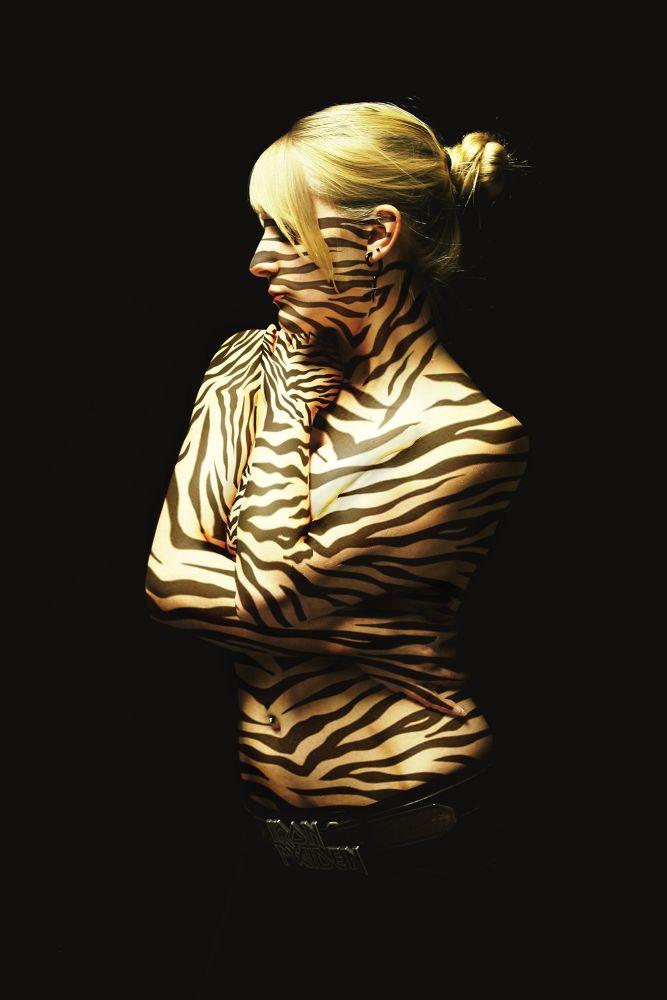 Photo in Random #danazukphotography #tiger #wild #sauvage #photography #photoshop #concept #conceptual