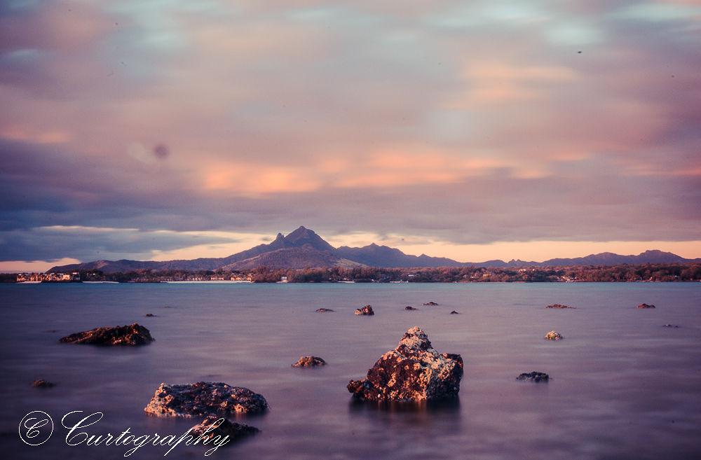 Photo in Landscape #sunrise #mountain #rocks #slow shutter