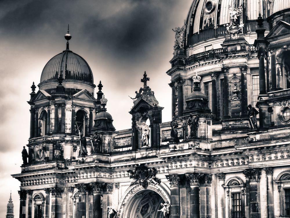 Photo in Architecture #berliner dom #berlin #black & white