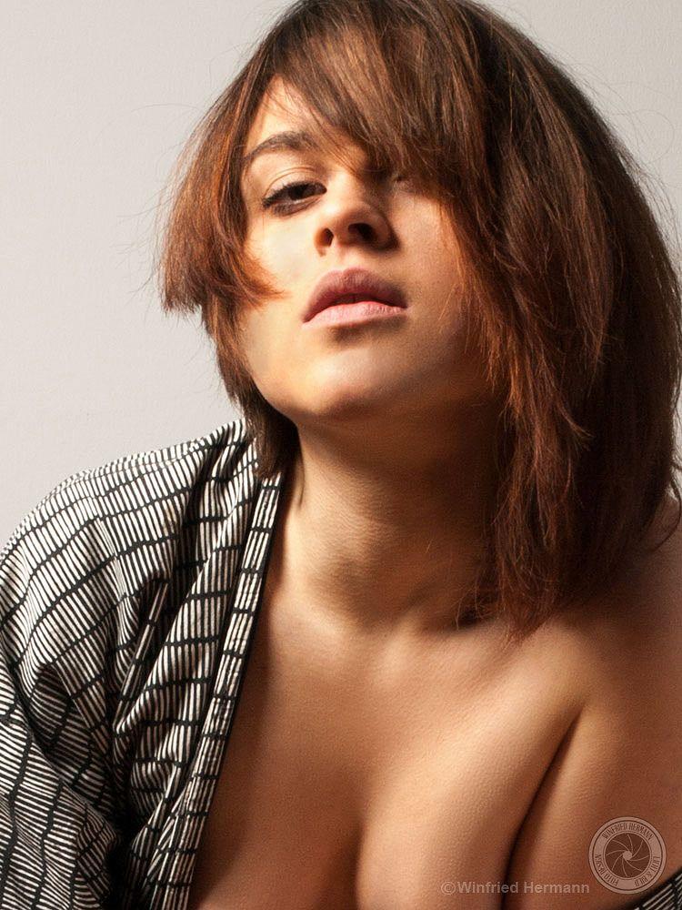 Photo in People #young #girl #nude #sensual #kimono