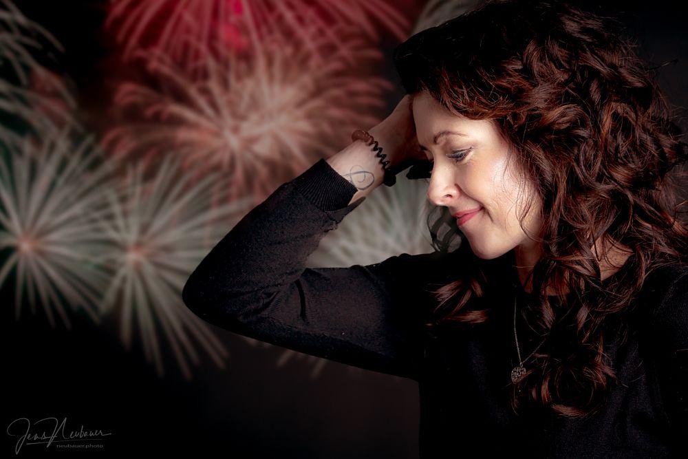 Photo in Portrait #fireworks #gurl #woman #female