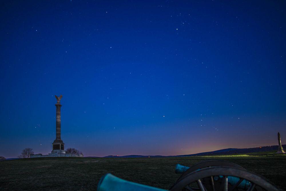 Photo in Landscape #antietam #monument #park #stars