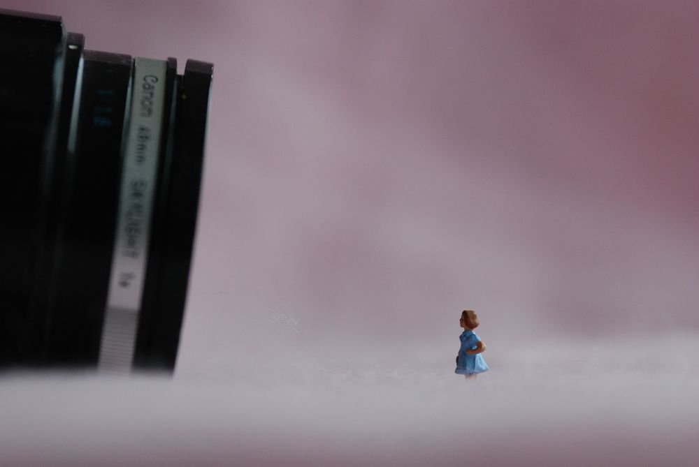 Photo in Fine Art #minifigs #camera #girl #pink
