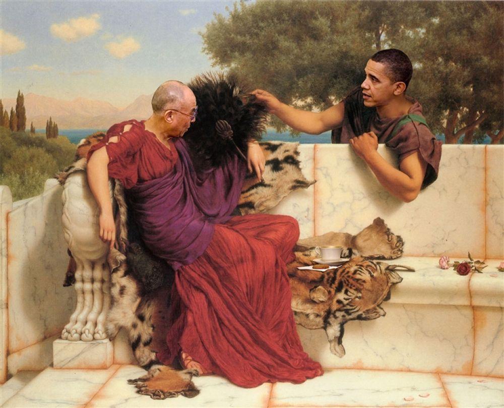Photo in Random #and #obama #dalai #lama