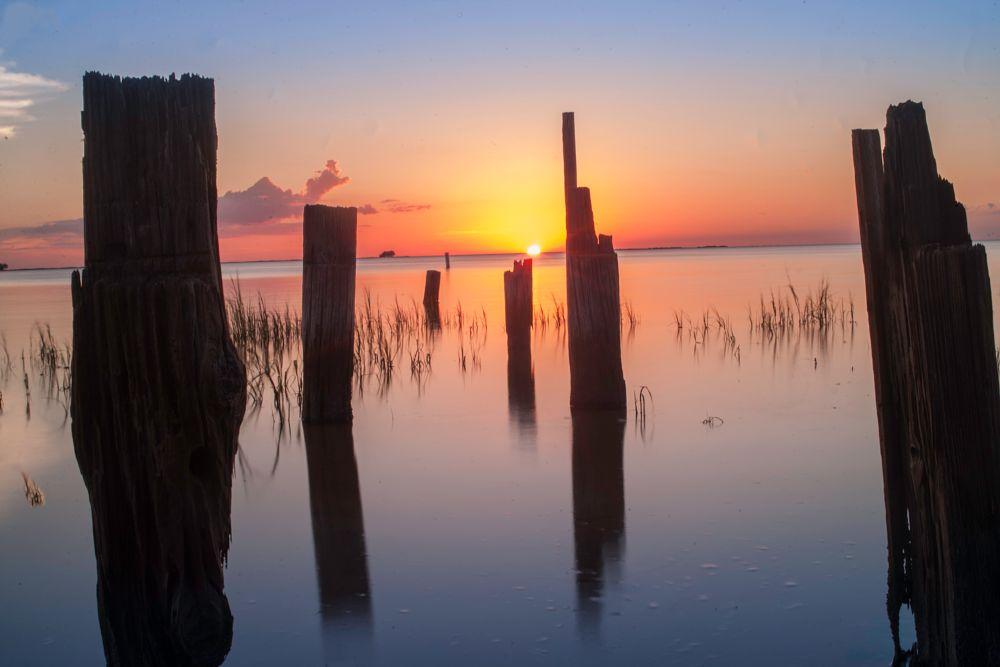 Photo in Random #water #gulf of mexico #palm harbor #florida #sunset #sunrise #canon #adobe #editing #seascape #landscape