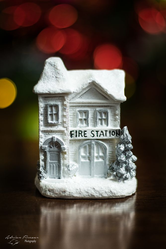 Photo in Abstract #house #decoration #ornament #fire station #background #red #color #christmas