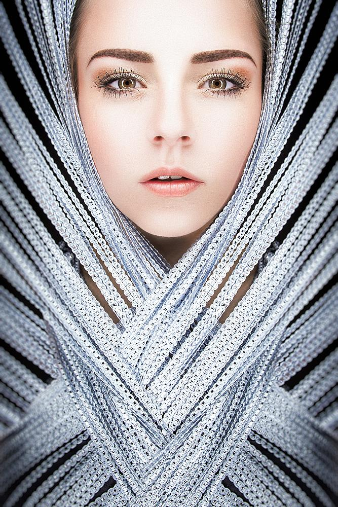 Photo in People #beauty #phantasy #woman #portrait #studio #ringlight