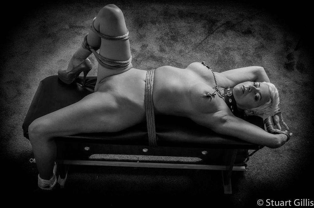 Photo in Nude #nude #bondage #woman #nipple clamps #rope #shibari