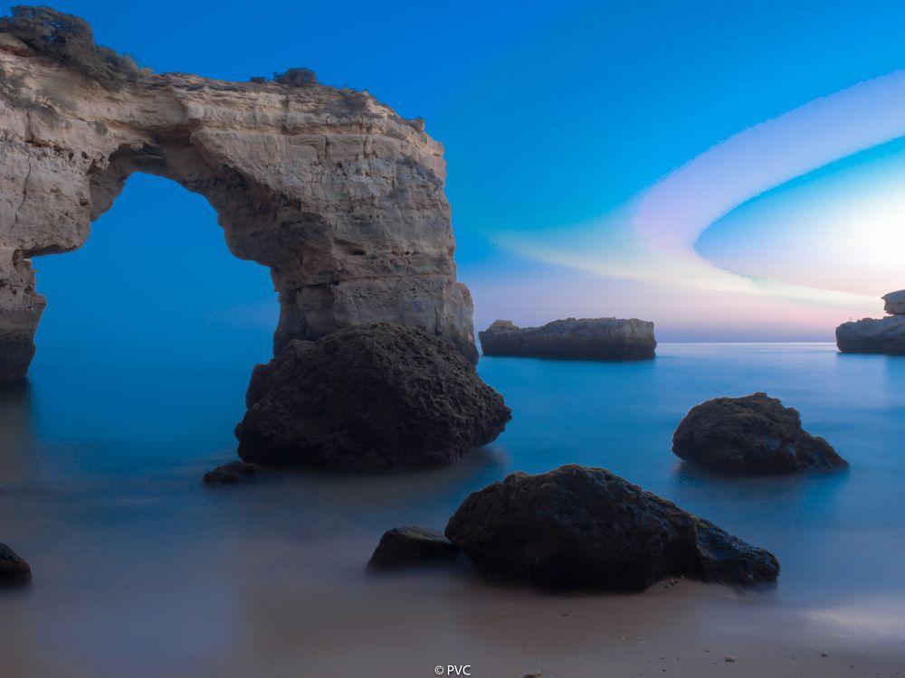 Photo in Fine Art #pvc #fail #portugal #algarve #sunset #blue hour